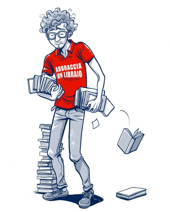 Abbraccia un libraio
