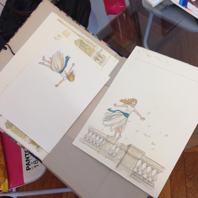 I disegni di Vanna per la copertina e l'astuccio del libro.