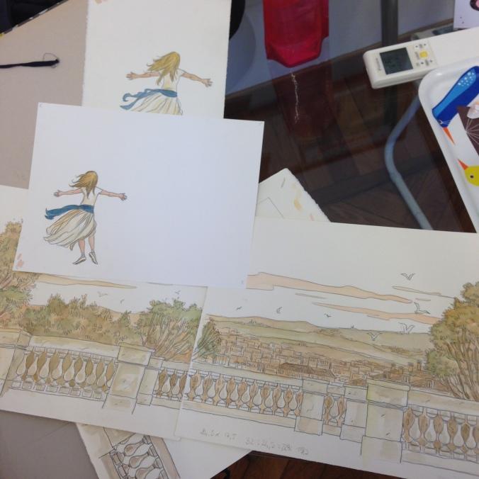 La copertina del libro è la composizione della figura di Alma sul disegno dello sfondo, per poterne gestire la posizione in base alla grafica del titolo.