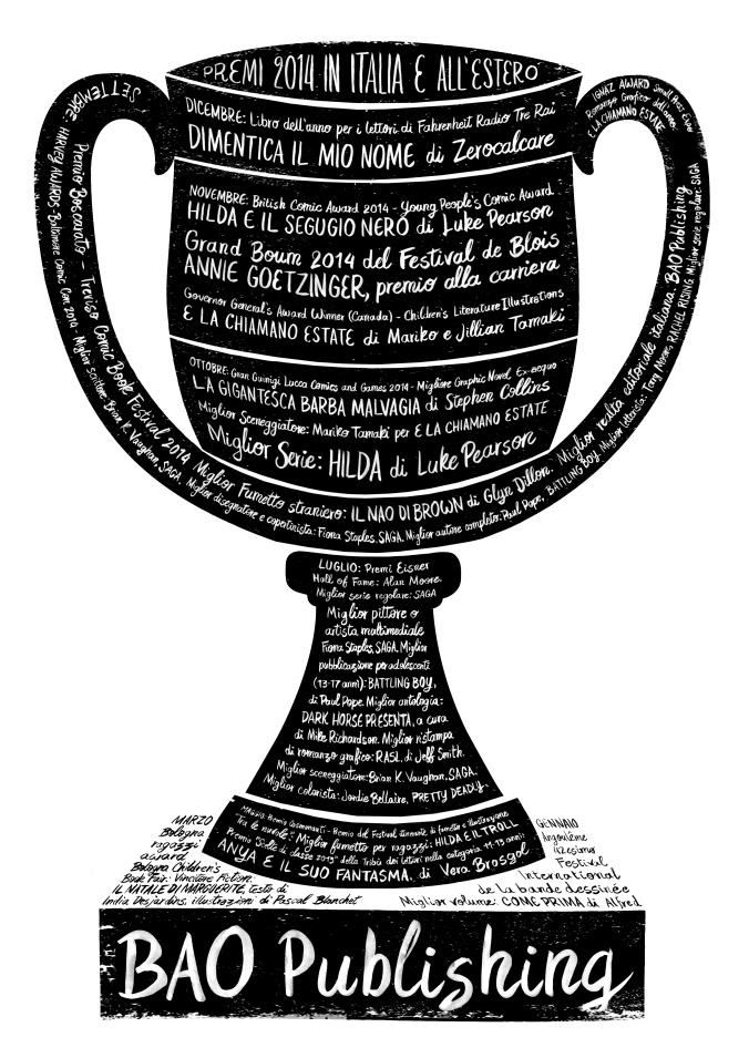Premi ordinati per manifestazione, premio, opera o autore. Concept mio, design di Lorenzo Bolzoni.